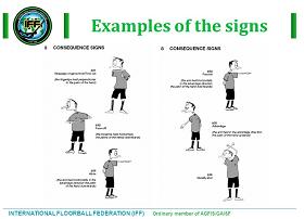 Floorball Referee Signals