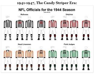 NFL Officials Uniforms history