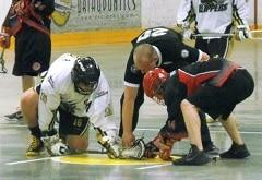 Lacrosse faceoff