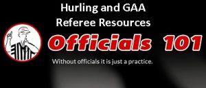 Officials101 header Hurling and GAA