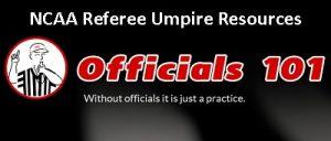 Officials101 header NCAA