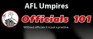 Officials101 header AFL Umpires