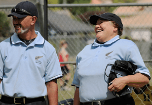 Softball Umpires Smiling