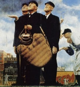 Bottom of the 6th Norman Rockwell