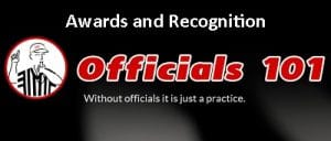 Officials101 header Awards and Recognition