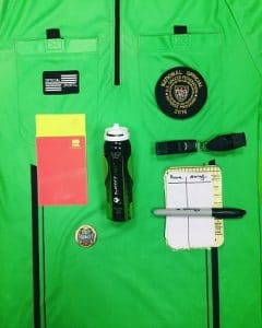 Soccer referee equipment